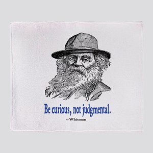 WHITMAN QUOTE Throw Blanket